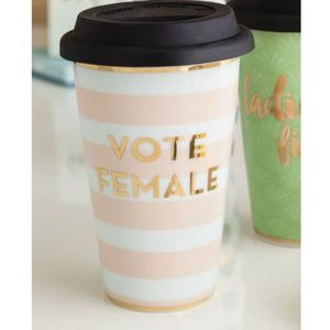 Vote Female Commuter Mug in Candy Stripe